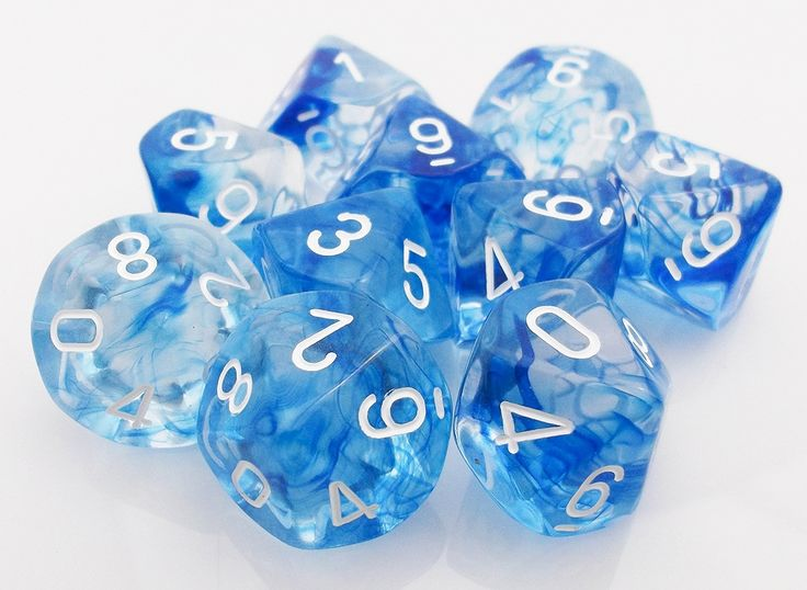 Nebula d10 Dice (Blue) RPG role playing game dice