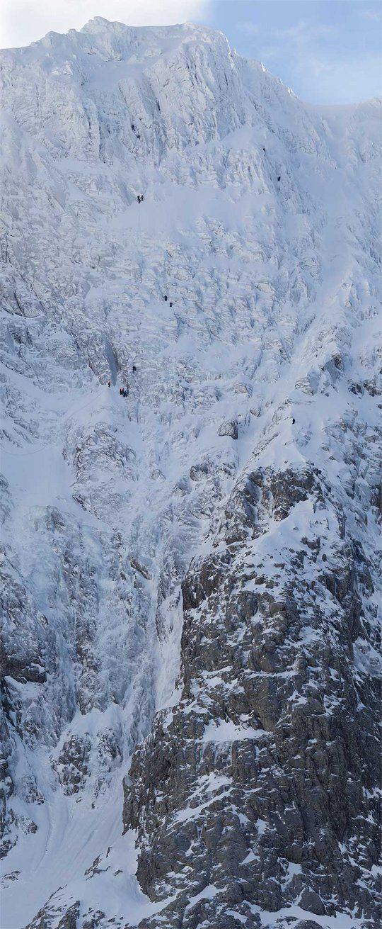 The Orion Face, Ben Nevis, Scotland - Photo Dan Arkle, 23rd Feb 2013