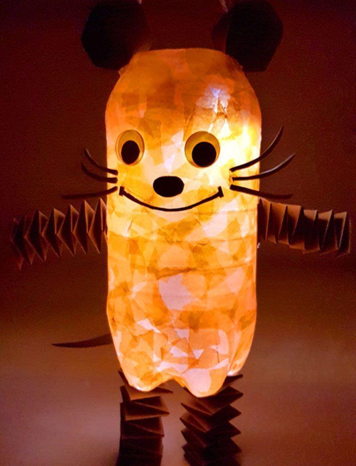 The Mouse Lantern Tinker In 4 Simple Steps Diy Family Die Maus Laterne Basteln In 4 Einfachen Schritten Di Homemade Lanterns Diy Crafts To Do Lanterns