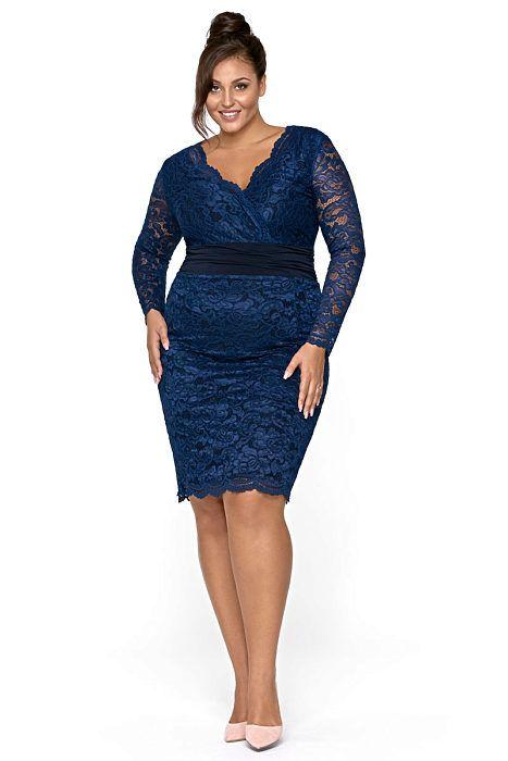 7233abe1fce2 Tmavě modré pouzdrové šaty Kartes Stellina