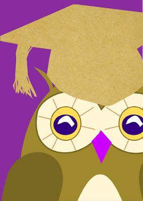 free printable cute owl cards – owl with graduation cap clipart graphics – ausdruckbare Karten mit süßer Eule für alle Bücherwürmer :) – Freebies | MeinLilaPark – DIY printables and downloads