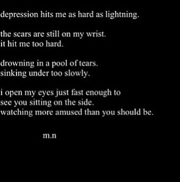 Sad Quotes About Depression: Depression Poem