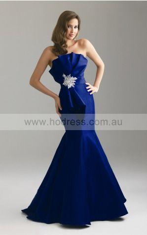 Zipper Floor-length Natural Mermaid Taffeta Formal Dresses ahaa307383