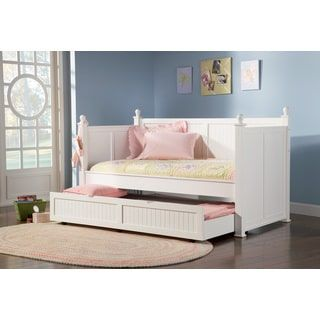 Shop for Coaster Company Fine Furniture Wood Daybed with Trundle (White Finish) Twin Size. Get free delivery at Overstock.com - Your Online Furniture Outlet Store! Get 5% in rewards with Club O! - 19182785