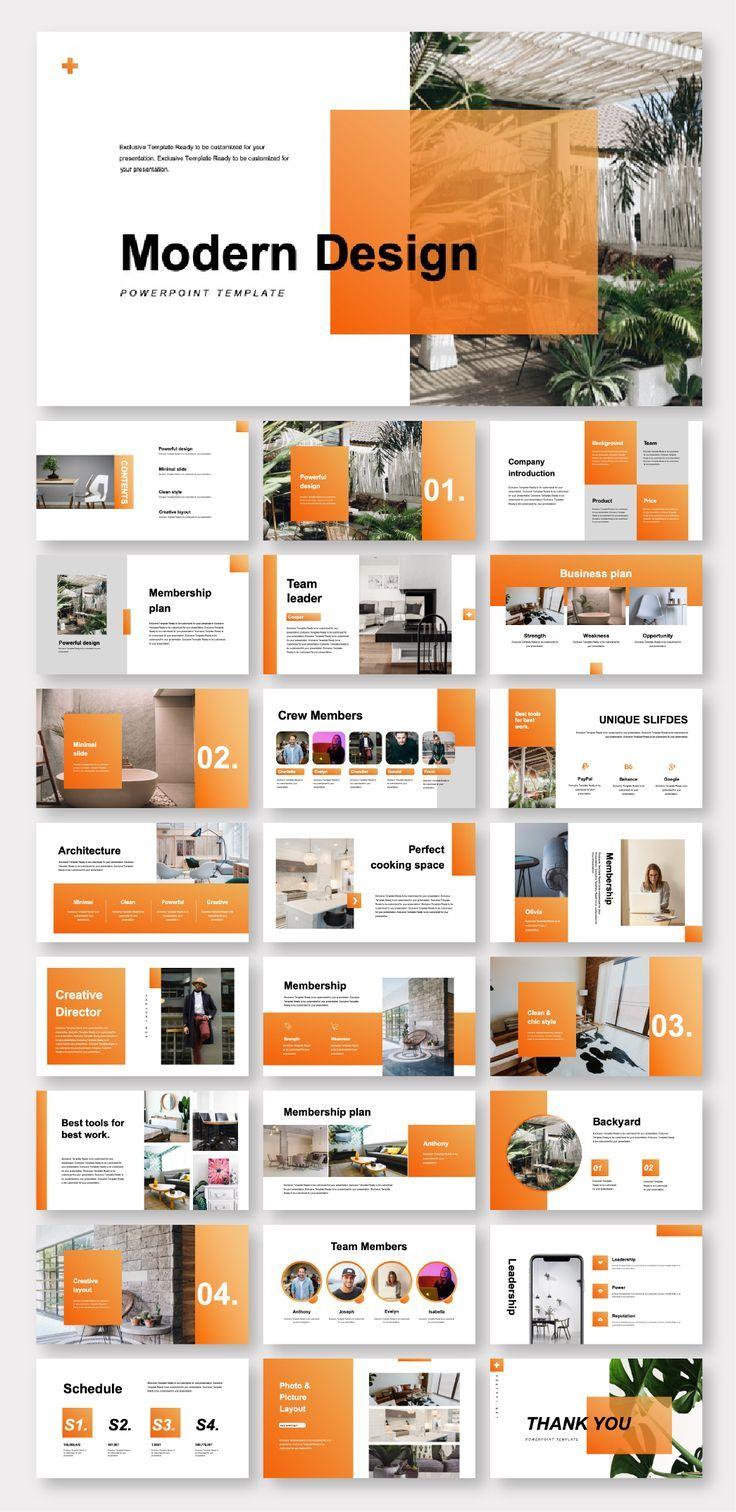 Clean Modern Design Report Presentation Template -…