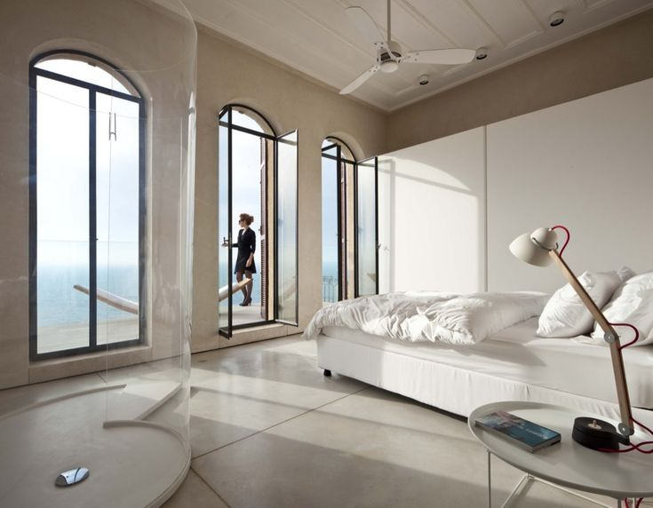 Pitsou Kedem Architect designed a contemporary interior inside a historic residence in Jaffa, Israel.