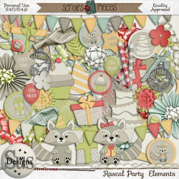 Rascal Party kit by Sus Designs. Available at: http://bit.ly/1BpKfkU