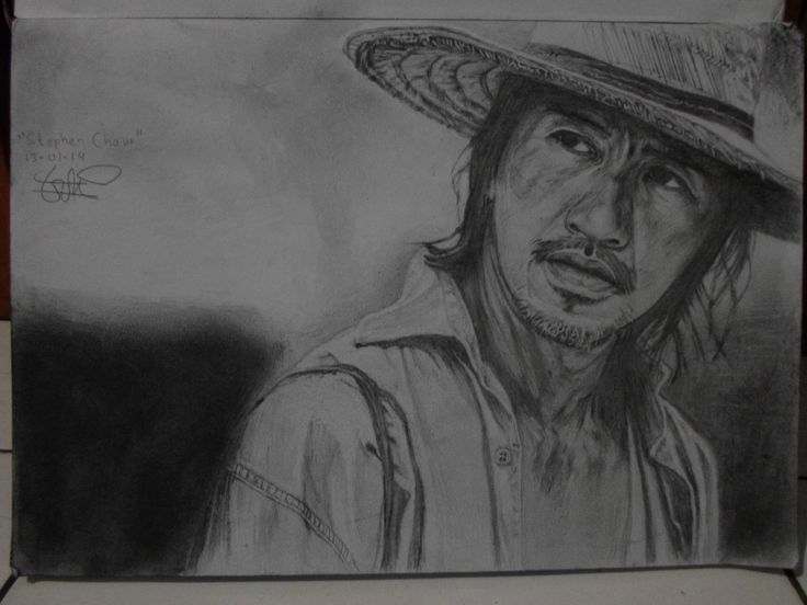 """Steven Chow"" pencil on A3 paper"