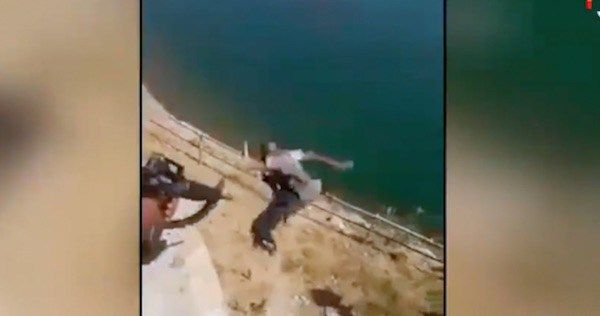 The End Of ISIS in Mosul? A video has surfaced showing Iraqi Army soldiers beating ISIS militants and then throwing them off a cliff on the banks of the Tigris River near Mosul. Their Hostility Is …