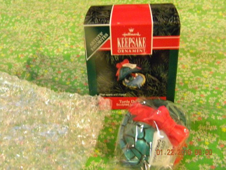 "Hallmark 1992 Clip on Ornament ""Turtle Dreams"" by Julia Lee Artists Favorites | eBay"