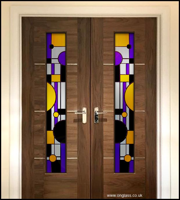 Solid Black With Translucent Yellow U0026 Purple Make These Door Panels Stand  ...