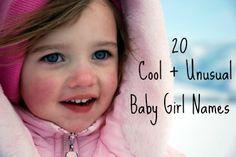 20 Cool + Unusual Baby Girl Names / Aliz and Windsor