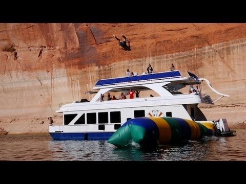 MUST SEE VIDEO: The Blob - Launching Humans 50 Feet High at Lake Powell. Film by Devin Graham, handheld cameras by Contour, awesome houseboat by Desert Shore Houseboats - www.desertshore.com