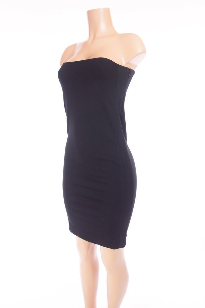 ed8d1454ca4d BALENCIAGA Bodycon Cocktail Dress FR 38 US 6 S Black Knit Tube Strapless   Balenciaga  BodyconDress  PartyCocktail