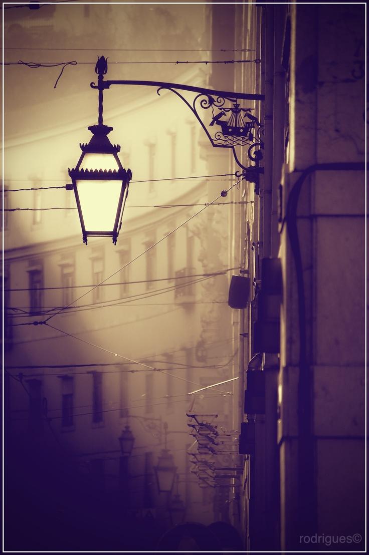 Lisbon, streetlight, romantic, sunset