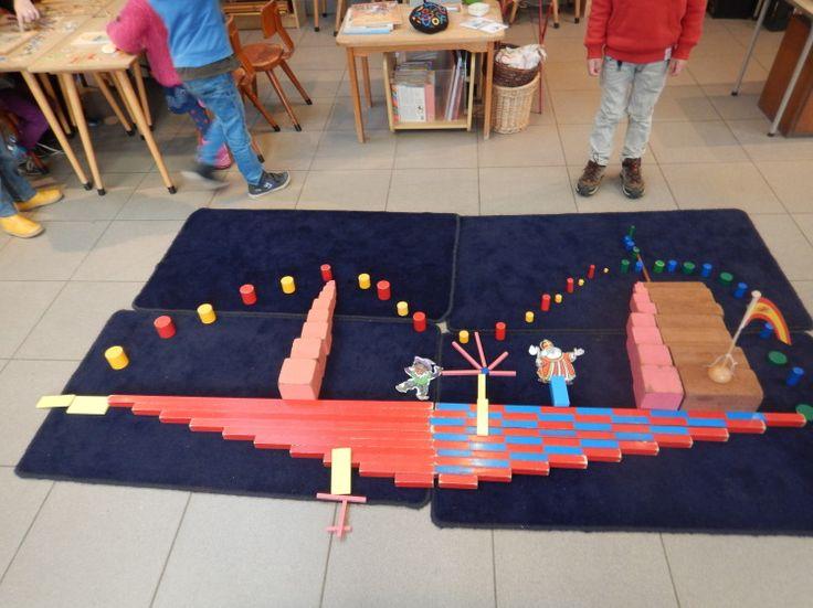 Grote stoomboot met zintuiglijk materiaal - MontessoriNet