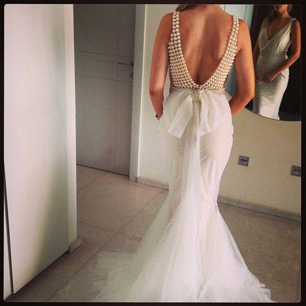 Pearl Back Wedding Dress – fashion dresses