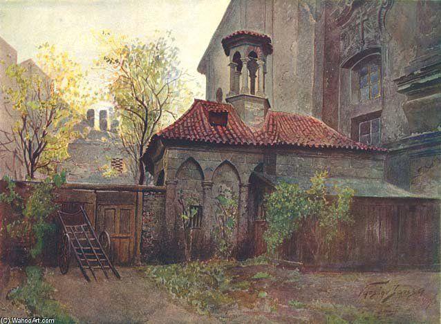 Kaple Božího Hrobu Na Zderaze de Vaclav Jansa (1859-1913, Czech Republic)