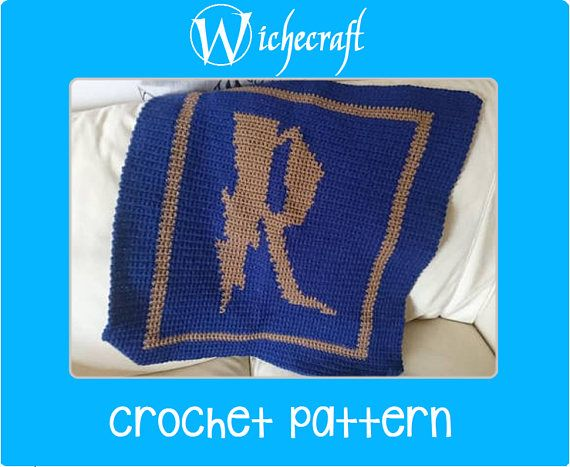 2 SIZES PDF PATTERN Harry Potter Ravenclaw Baby Blanket