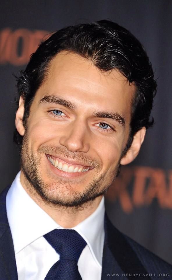 Henry Cavill. Ladies just take a minute to appreciate how unbelievably handsome this man is. You're welcome.