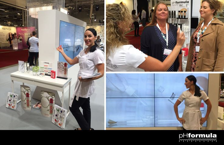 Pia from Mettecosmetique, Stockholm, Sweden demonstrating pHformula's P.O.W.E.R. essence tonic #Power #Sweden #weekend