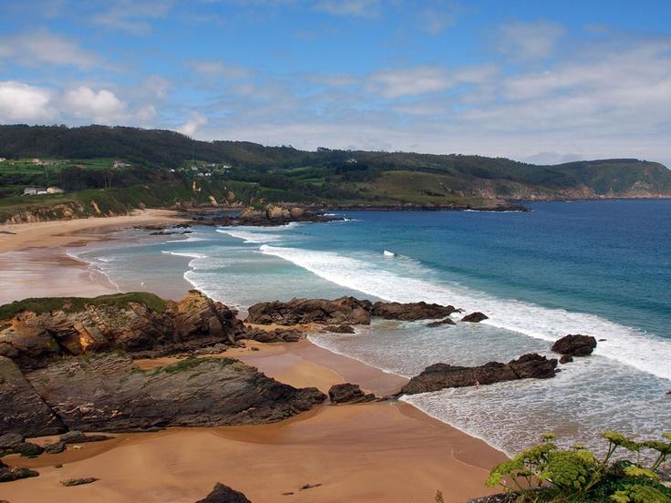Playa de San Román.  San Román beach.  Vicedo, Lugo, Spain.