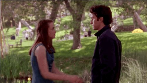 "When Rory and Jess snuck away and had their very first kiss at Sookie's wedding. | 47 Moments Every ""Gilmore Girls"" Fan Will Never Get Over"