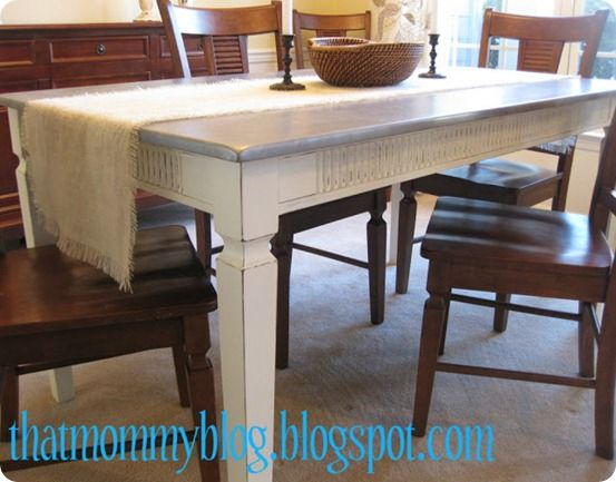 Refabbed Table With Faux Zinc Finish. Furniture ...