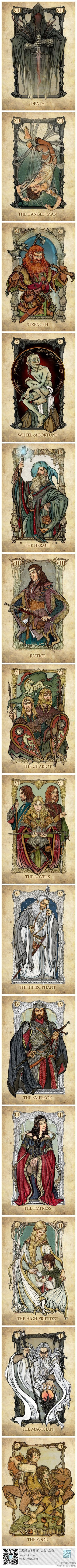 # Seeking love illustration # Lord of the Rings Tarot, by: Scei ...