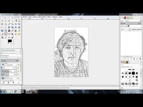 Convertir una foto en dibujo. Gimp e Inkscape. - YouTube