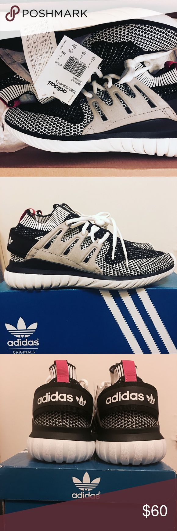 Adidas Tubular Nova Primeknit Brand new Adidas Tubular Nova Primeknit. Never worn. Breathable material makes this a great sneaker for spring, summer, fall. Size 7.5 in men's adidas Shoes Sneakers