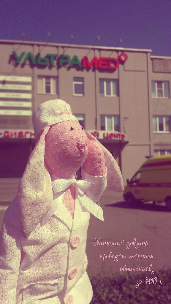 "Заяц-врач, игрушка заяц, игрушка ручной работы, handmade, ""принцесса Надя"""