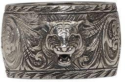 Gucci | Silver Feline Ring.