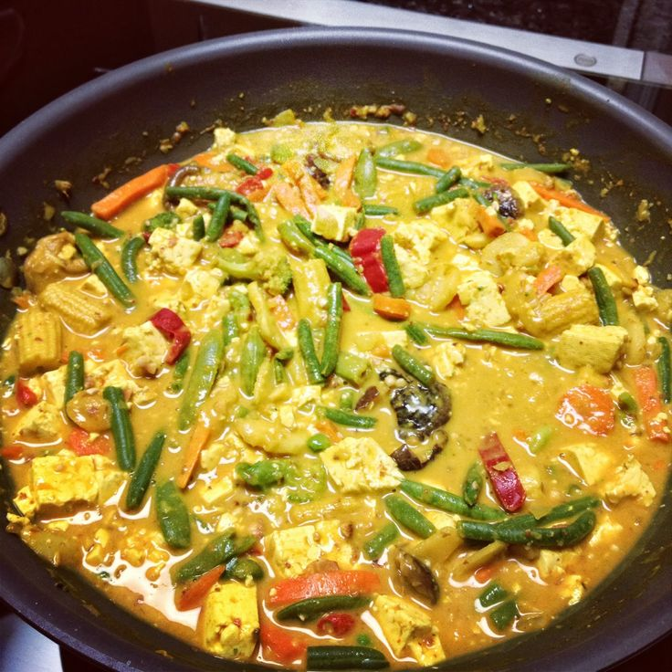 Panang Curry with Garlic Tofu…made this and it was amazing!