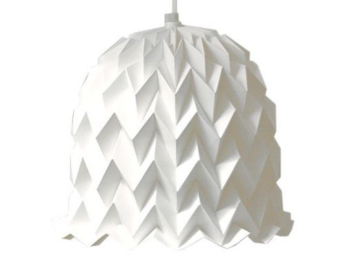 Origami Bell Lampshade by all things paper, via Flickr