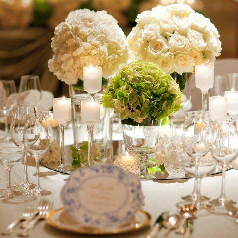 京都センチュリーホテルの写真「テーブルコーディネート:ナチュラル。正統派結婚式をご希望の方に。」