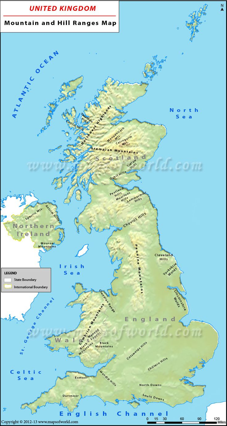 Map Of Uk Hills And Mountains.Uk Mountains Map
