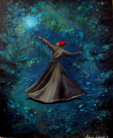 "Saatchi Art Artist Khusro Subzwari; Painting, ""Seeking Enlightenment ''"