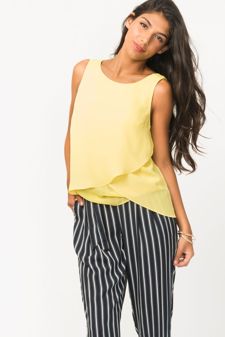 Tiered Chiffon Blouse With Open Back Detail