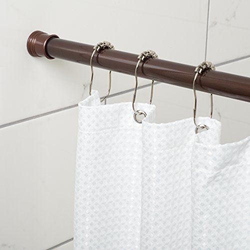 Bathroom Tension Shower Curtain Rods 44 72 Inch Oil Rubbed