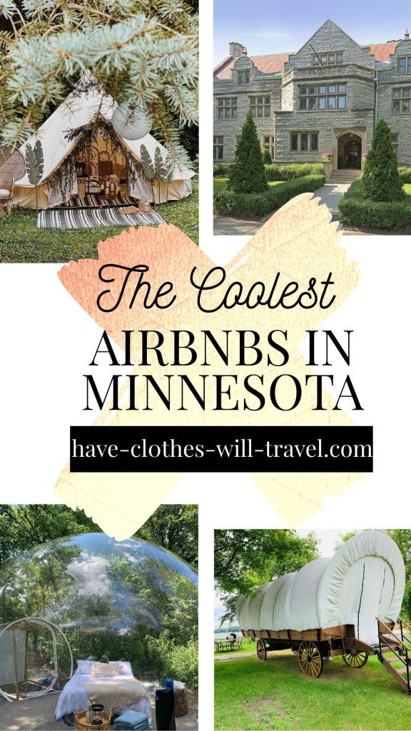 The Coolest Airbnbs In Minnesota Featuring Bubbles Treehouses Houseboats Castles More Minnesota Travel Minnesota Vacation Minnesota