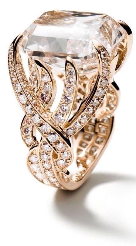 Adler Ring - Style Estate - 20.09 ct brown pink diamonds, 18kt pink gold - http://blog.styleestate.com/style-estate-blog/adler-ring.html
