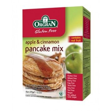 Μείγμα για Πάνκεϊκ με Μήλο και Κανέλα 375gr Orgran χωρίς γλουτένη