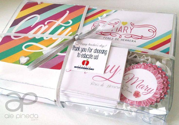 Paquete para regalo de libreta y tarjetas personalizadas - Paquetes originales para regalos ...