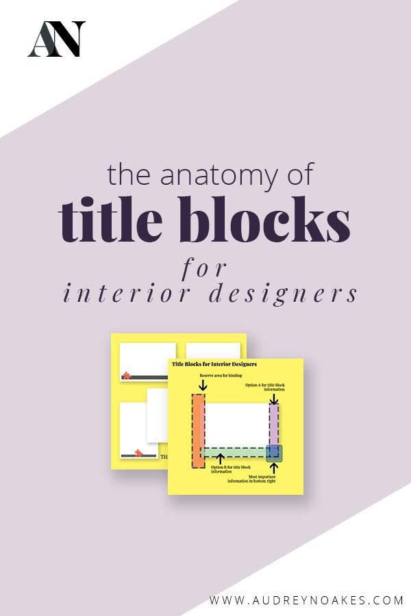 Anatomy Of Title Blocks For Interior Designers In 2020 With Images Title Block Interior Design Presentation Learn Interior Design