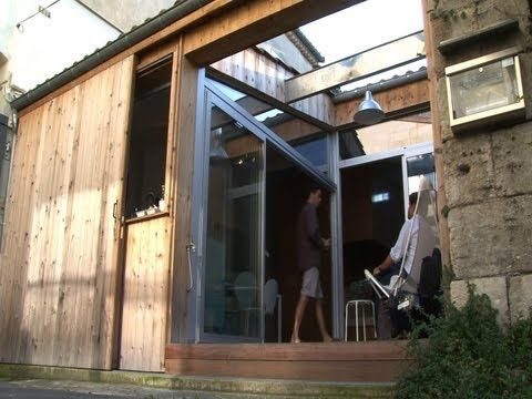 Maison garage: old parking as tiny home in Bordeaux, France - YouTube