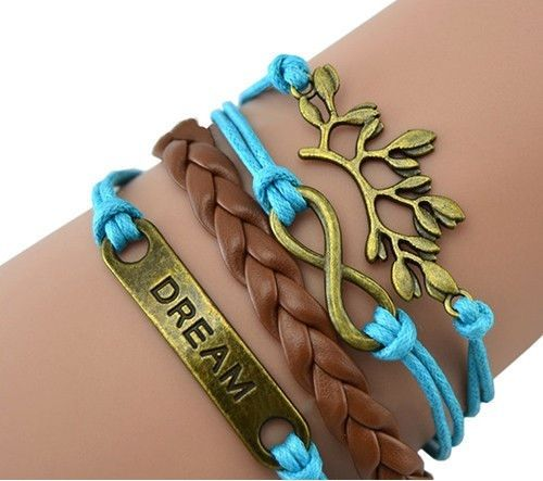 The Rustic Shop - Vintage Style Blue Dream Multi Layered Infinity Bracelet, $6.99 www.showcountrypride.com
