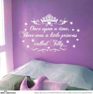 Amazon.com: Little Princess Nursery Vinyl Rhyme Wall Art Sticker Decal Children Kids: Home & Kitchen
