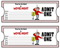 Best 25 movie tickets ideas on pinterest that night for Fake movie ticket template