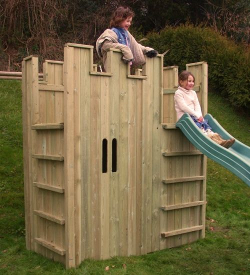 1-wooden-castle-playhouses-for-kids   Home Interior Design ...